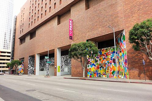Eye catching murals at The Bloc were completed last month to improve the pedestrian experience along 8th Street