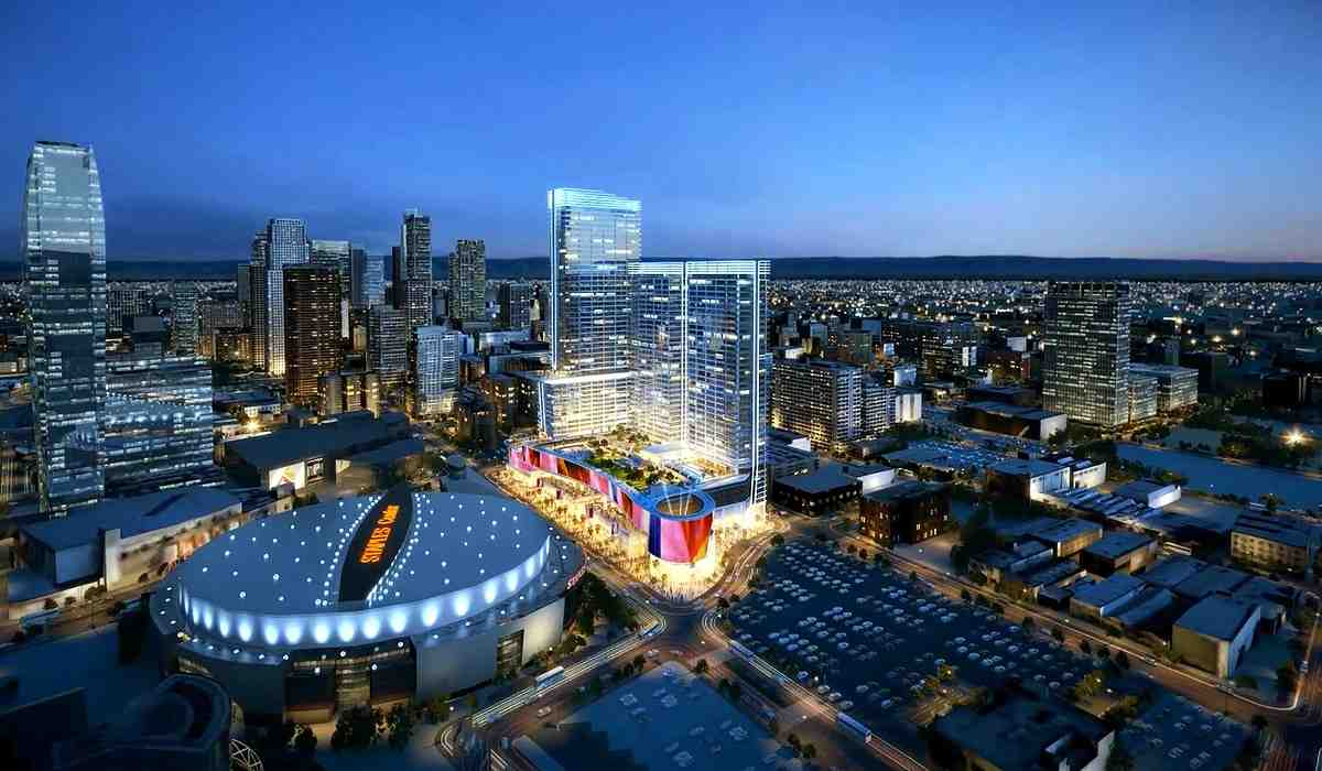 The highly anticipated $1 billion Oceanwide Plaza is under construction across from Staples Center slated for a late 2018 completion (Photo: Oceanwide Plaza)