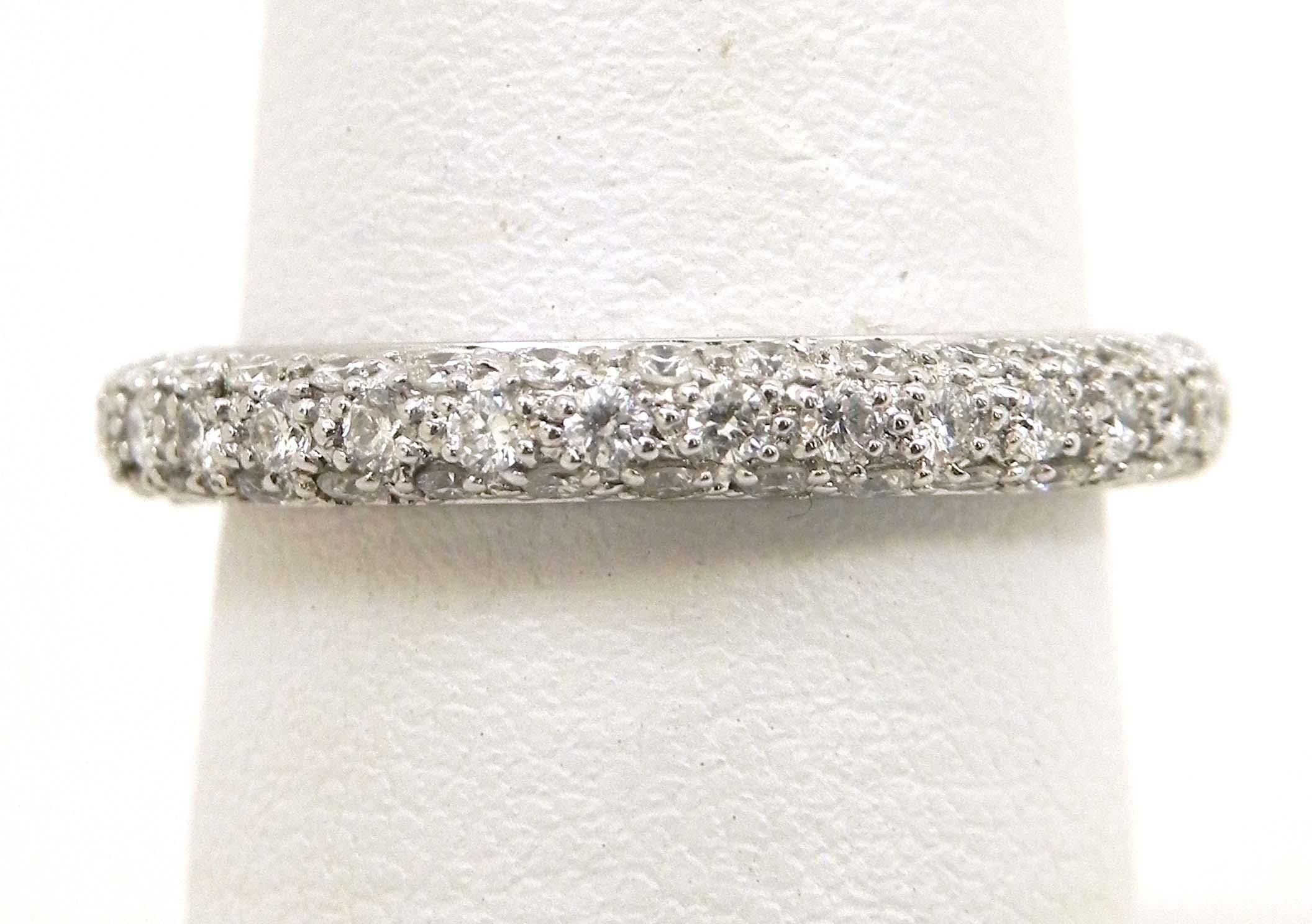 ladies 18k white gold 3 row diamonds eternity wedding band eternity wedding band Diamonds Eternity Wedding Band 00 Previous Next