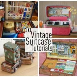 10 Vintage suitcase tutorials