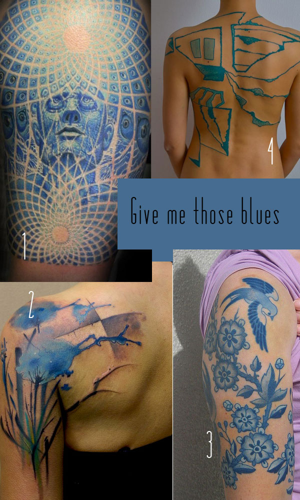 Blue Tattoos