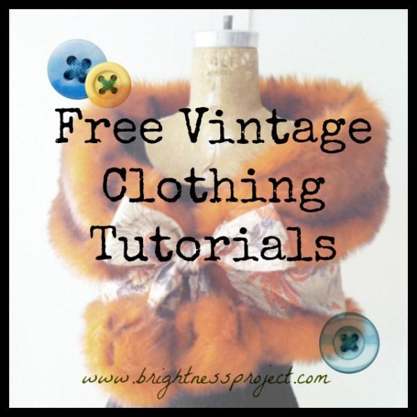 Vintage Clothing Tutorials