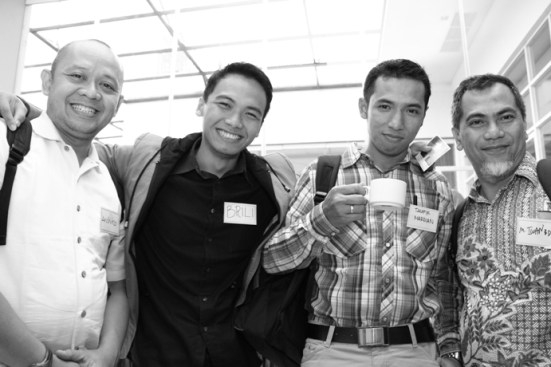 Dari Kiri ke kanan (Mas Andhika, Aku, Mas Taufik, Pak Iwan) Kurang MAs Wim dan Pak Luthfi
