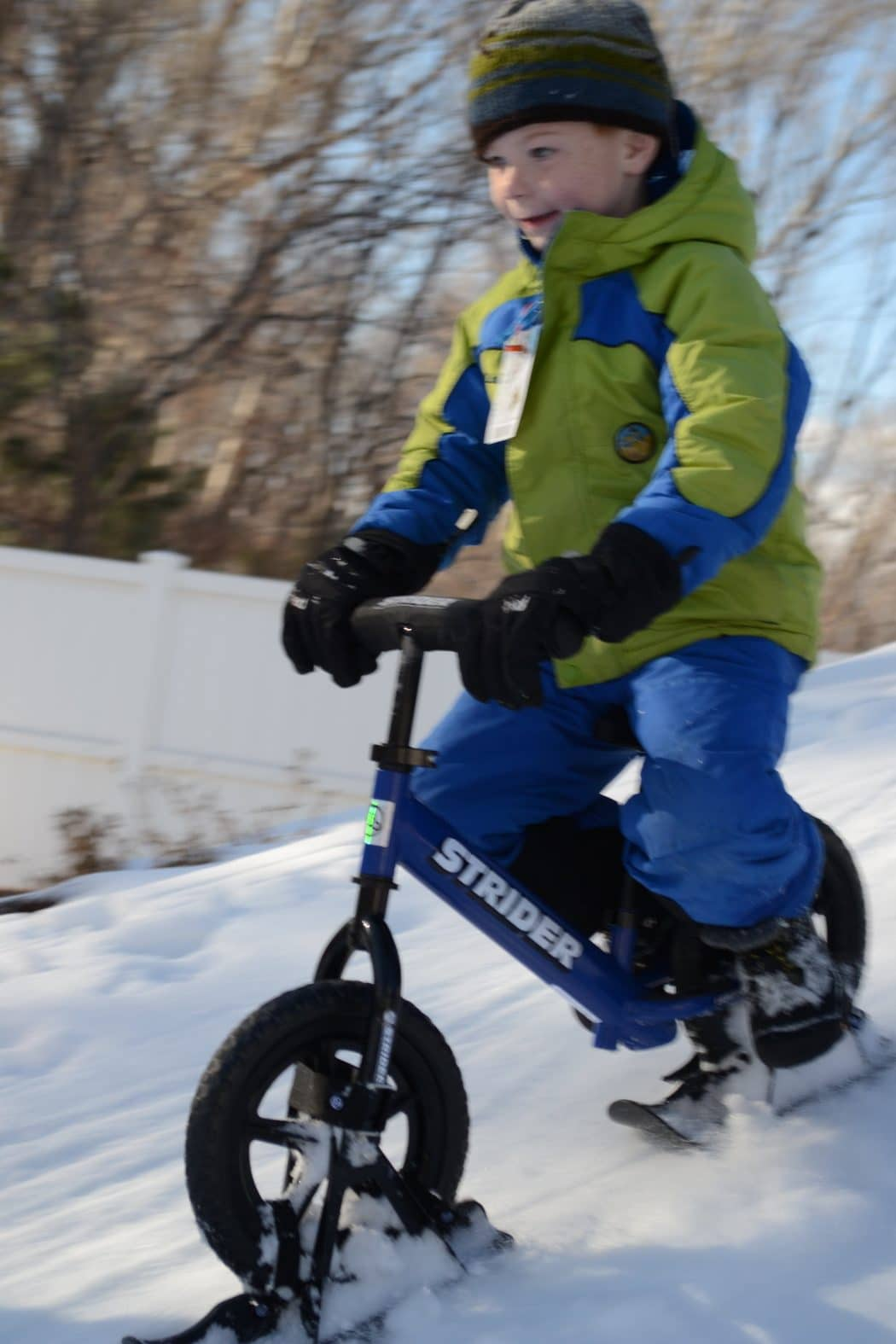 Toys For Winter : Snow strider ski bike attachment the coolest toy