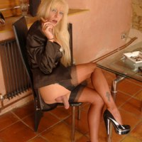 British Tgirl Joanna Jet Takes A Cigar Break!