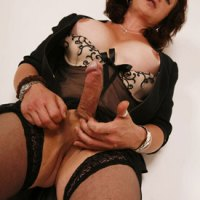 British Tgirl Celine And Her Big Cock On Shemale Yum!