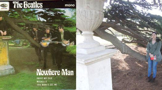 Beatles Nowhere Man record cover location