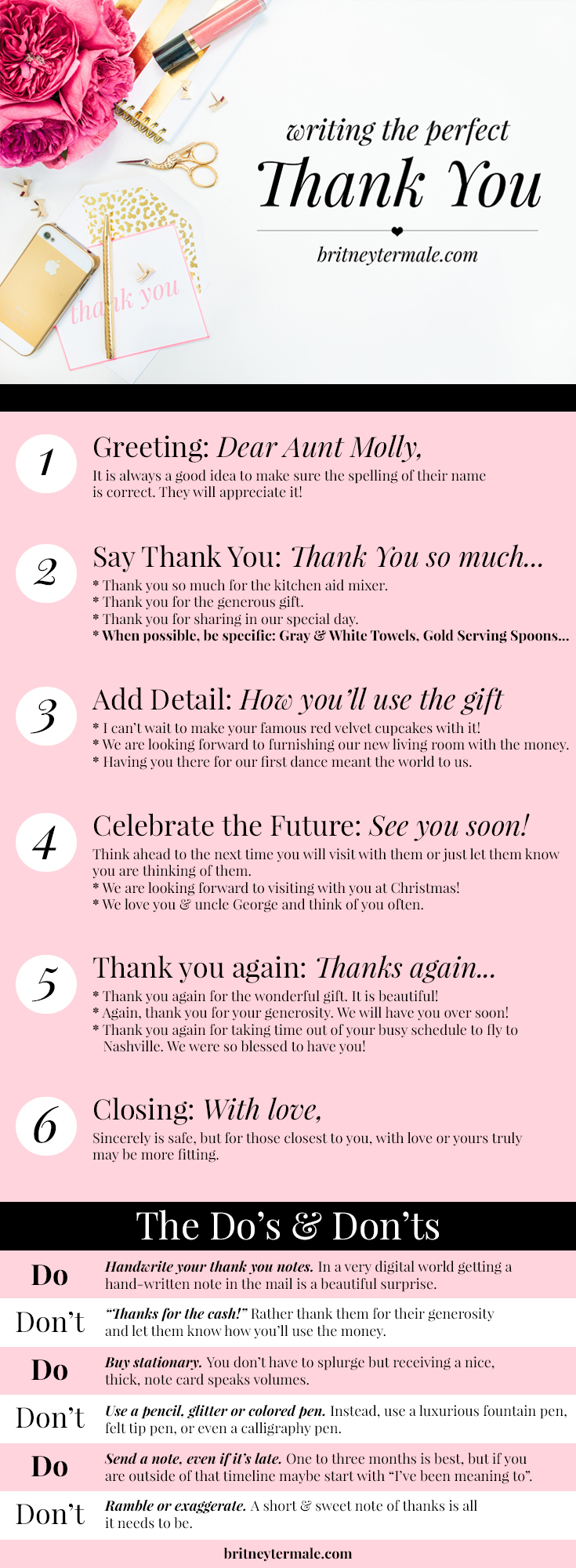 How to write the perfect thank you note l Britney Termale