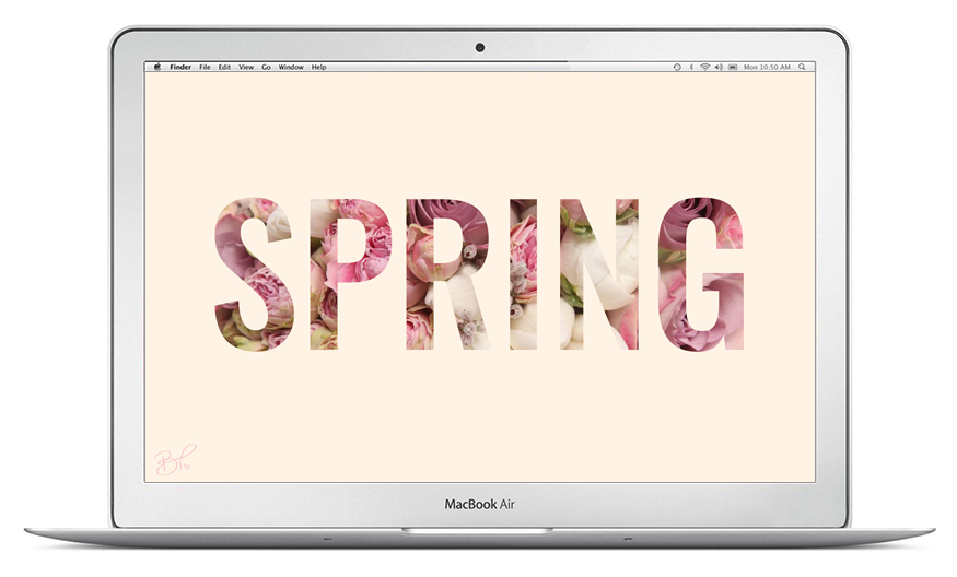 Spring cute desktop wallpaper // britneytermale.com