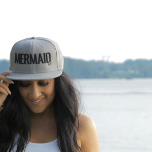 mermaid snapback gray snapback