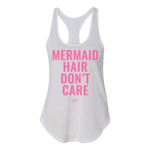 Mermaid hair don't care graphic tank