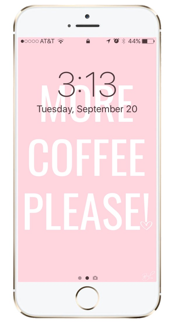more coffee please september iPhone background free download