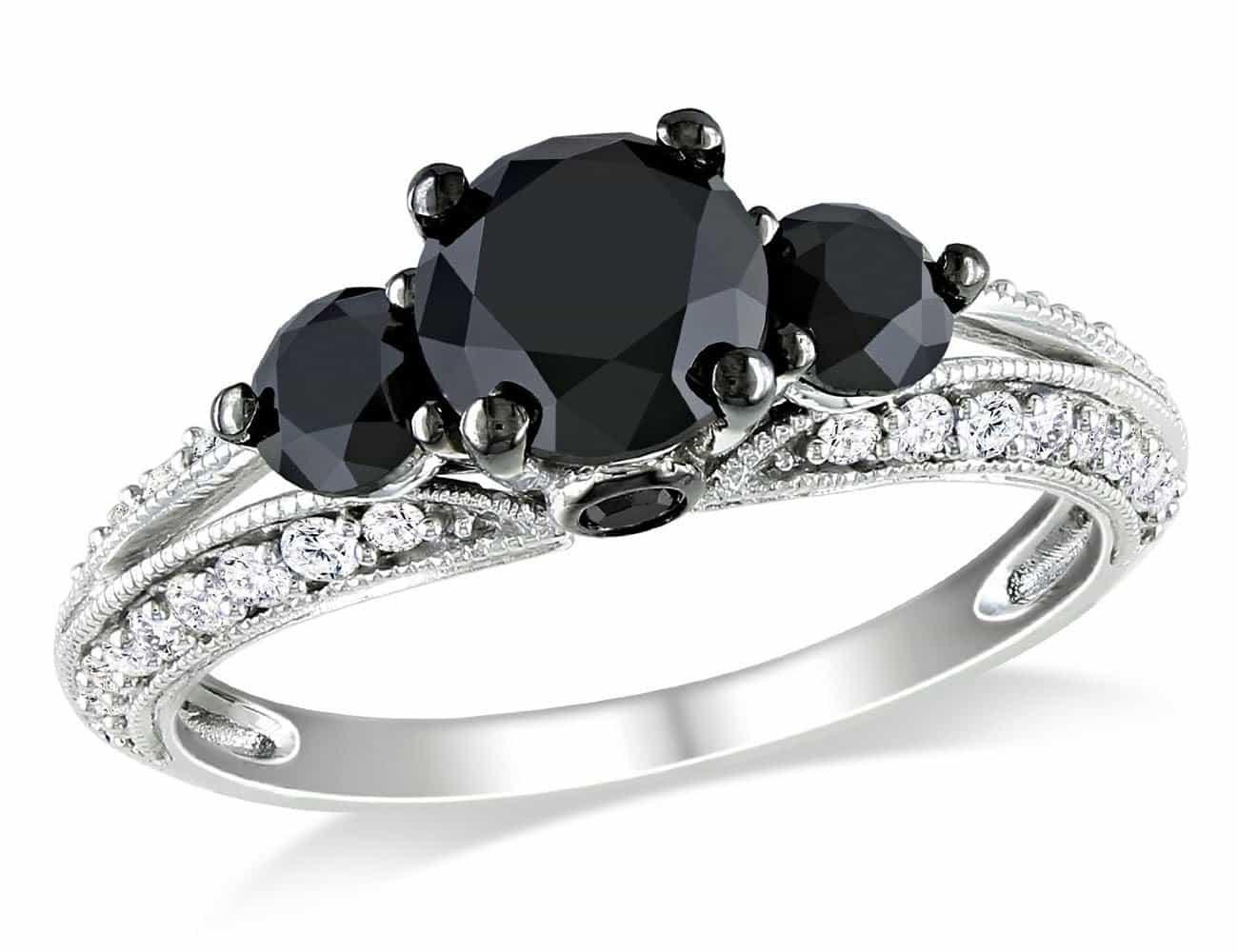 engagement rings black diamond trend wedding rings black Black Diamond Engagement Ring