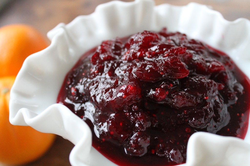 Maple Orange Cranberry Sauce