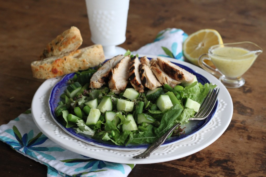 Green Green Salad W/Creamy Honey Lemon Vinaigrette