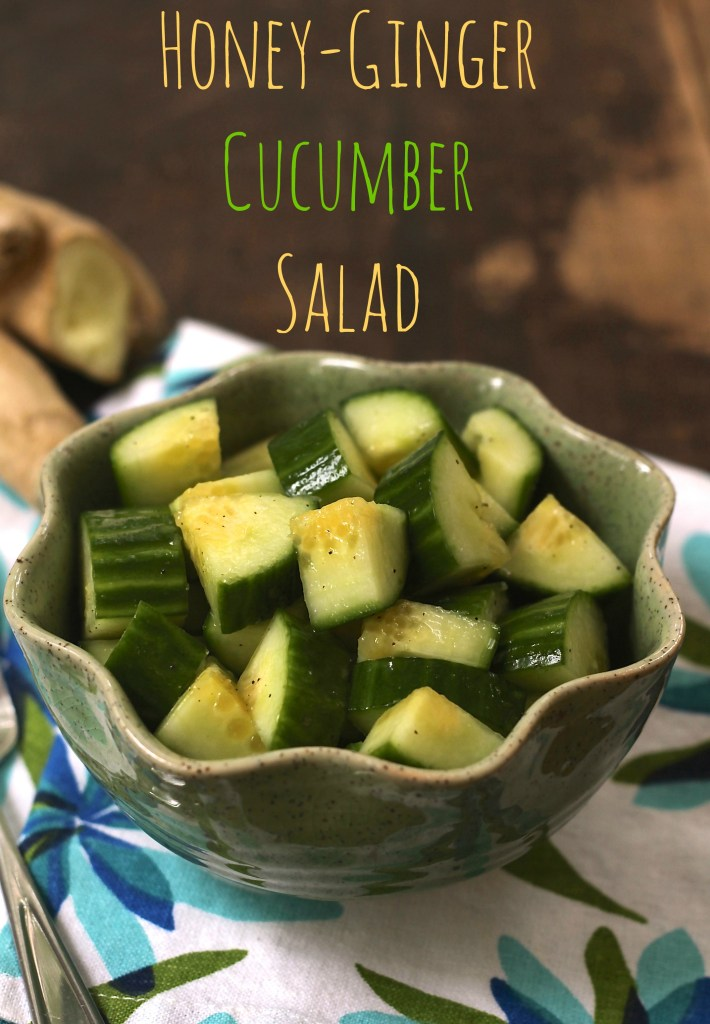 This quick and easy Honey Ginger Cucumber Salad is crisp and refreshing. Not to mention healthy! {Brittany's Pantry}