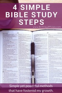 4 Simple Bible Study Steps