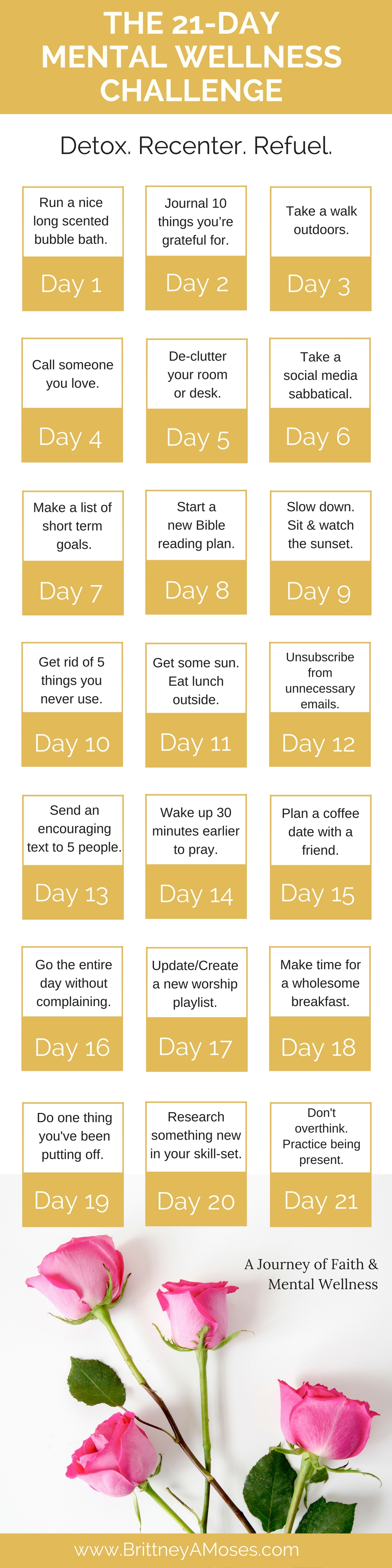 the 21 day mental wellness challenge brittney moses