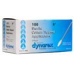 Dynarex Sterile Cotton Tipped Applicators 6 inch 2 per pouch package of 100