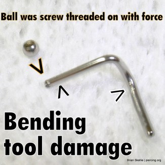 Tool damage nostril screw