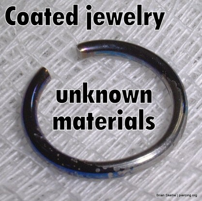 Coated jewelry