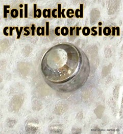 Degraded foil backed crystals