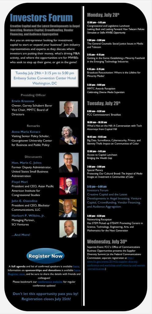 Investors Forum Panel Eblast