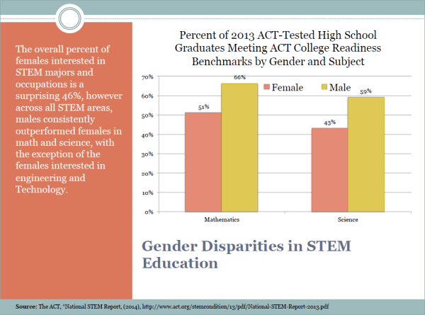 Slide 4 - Gender Disparities in STEM Education