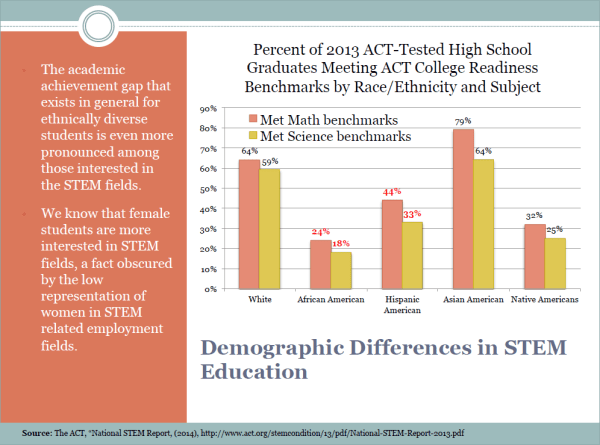 Slide 6 - Demographic Differences in STEM Education