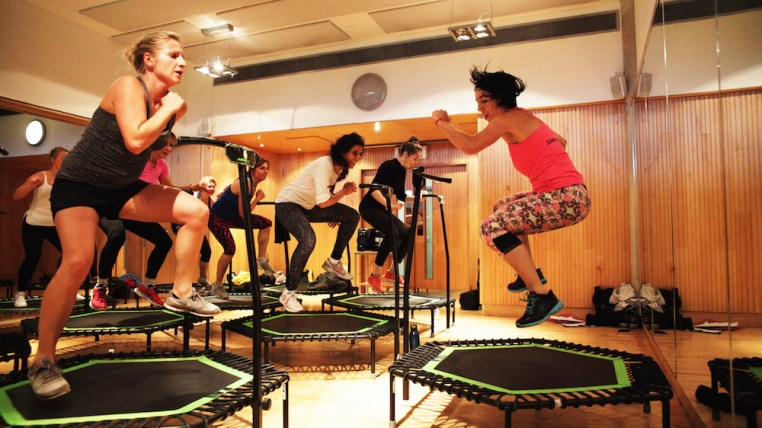 Jump, Man: Reaching New Heights at a High-Intensity Trampolining Class