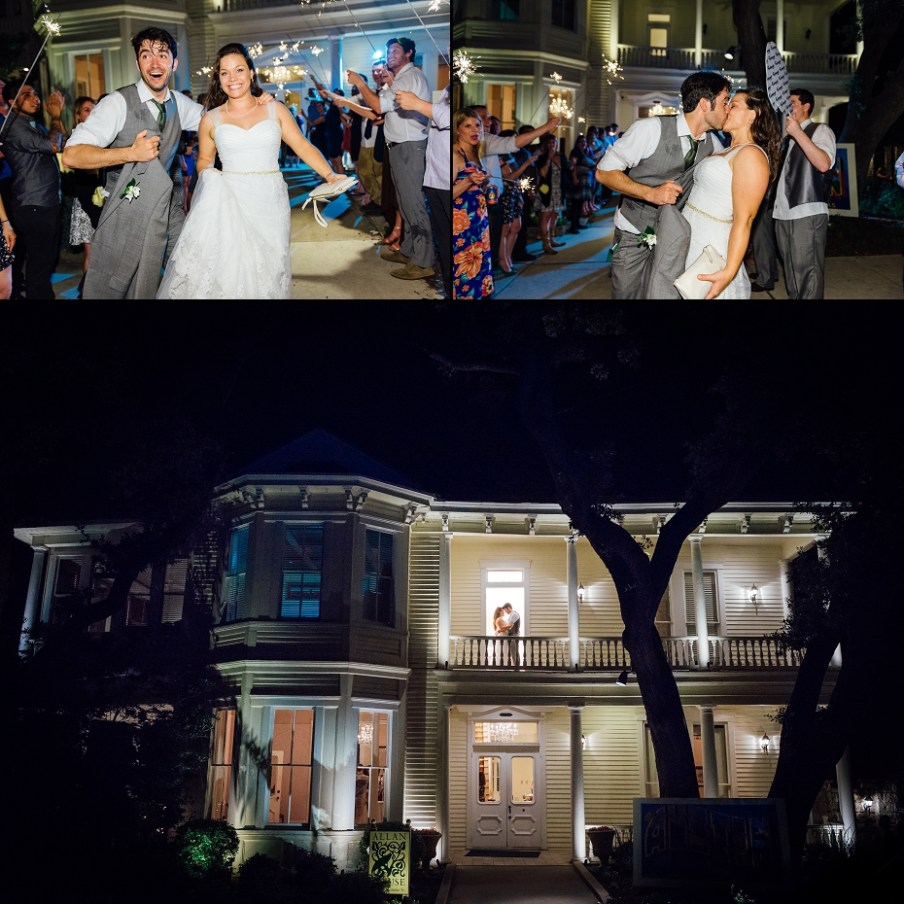 Maggie and Paul's exit form the Allan House was awesome!  Just check out these images.