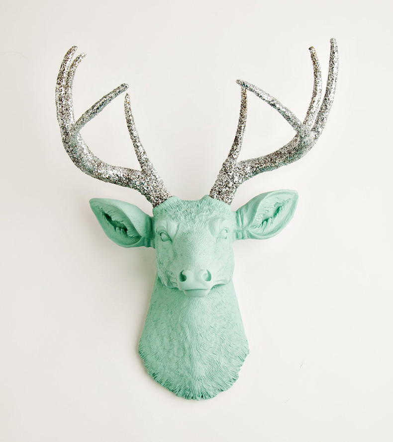 White Faux Taxidermy Resin Deer