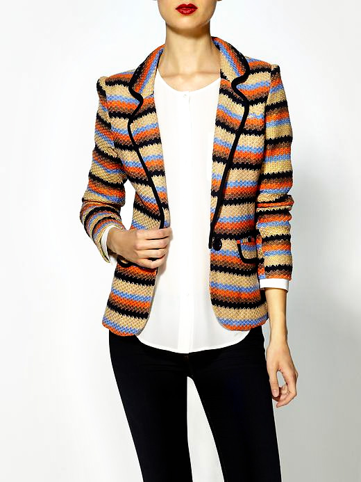 Printed Blazer: Striped