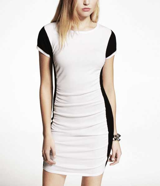 EXPRESS colorblock dress