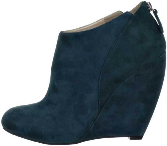 Nine West Teal Suede Booties