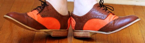 #FabFound: Neon orange oxfords...?