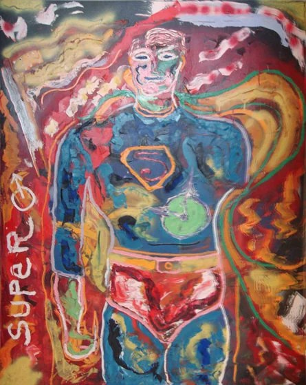"""Superman"" By Sylvester Stallone. photo courtesy of www.artbrokerage.com"