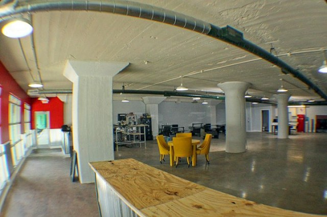 Inside the collaborative work space (Courtesy Ice Box Co Labs)