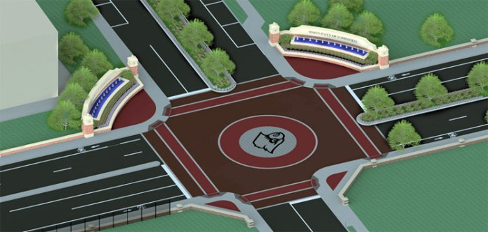 Planned changes to Cardinal Boulevard at First Street. (Courtesy UL)