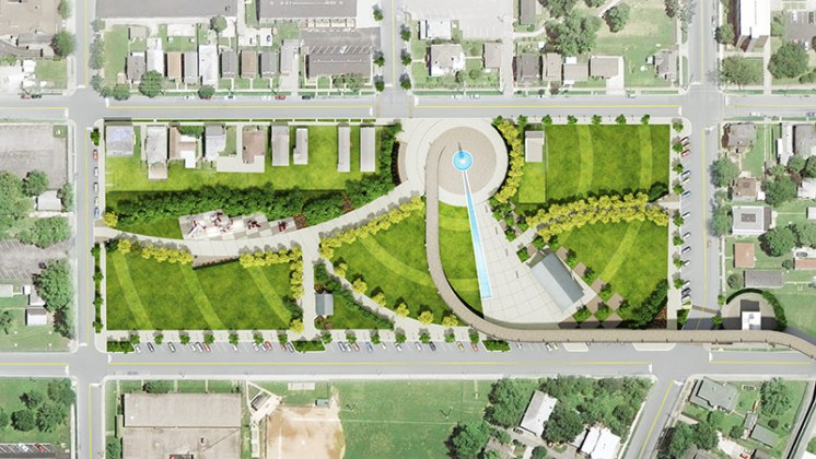 Big Four Station site plan. (Courtesy The Estopinal Group)