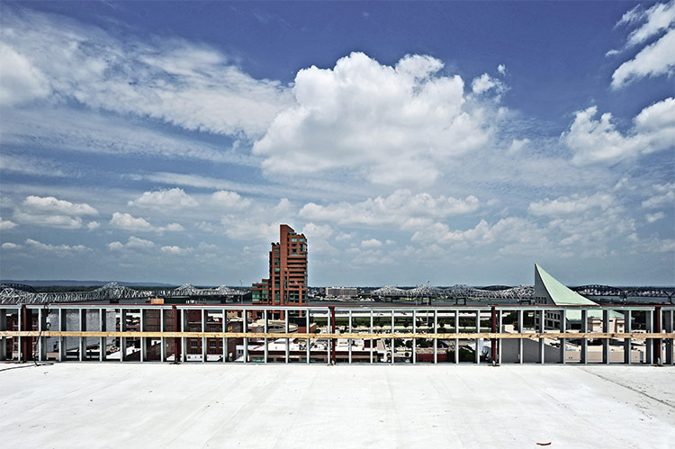 View north from the new building's rooftop. (Courtesy U of L)