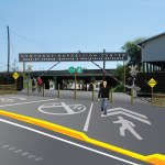 Rendering of proposed Bradley Street Entrance. (Courtesy John Mahorney/Bicycling for Louisville)