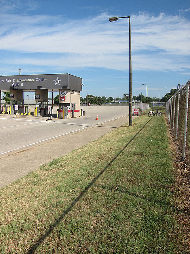 Land near gate 6. (Courtesy Bicycling for Louisville)