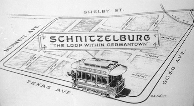 The old Schnitzelburg trolley loop. (Courtesy G-town/S-burg Blog)
