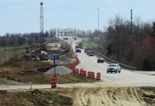 A road-widening project in Shelby County. (Courtesy KYTC District 5)