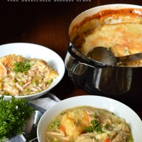 homemade chicken pot pie with buttermilk biscuit crust, revisited