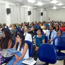 Church near Maceió. Antonio Barros sits in center in white shirt and tie.