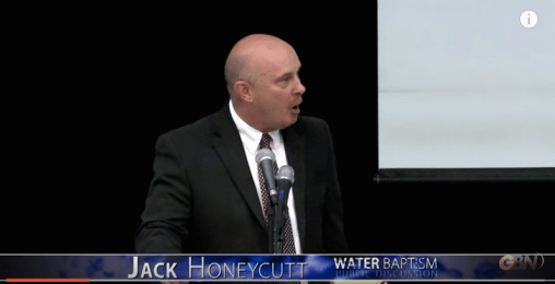 Jack Honeycutt in baptism debate