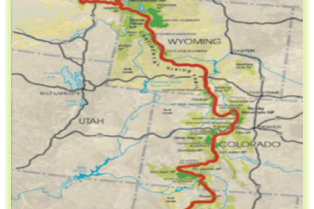 Map Of The Continental Divide - Cdt trail map