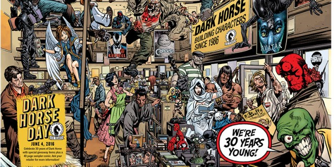 Celebrating 30 years, Dark Horse Day is June 4th